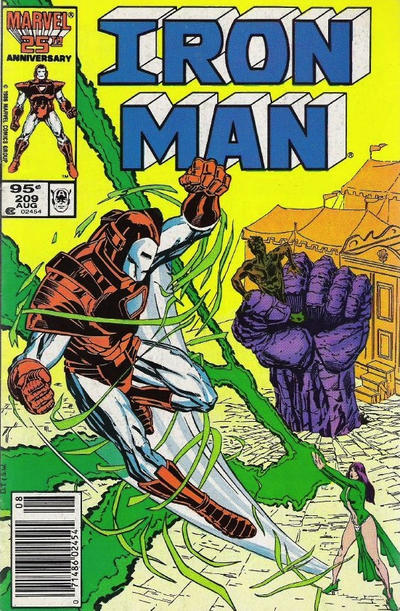 Cover for Iron Man (Marvel, 1968 series) #209 [Newsstand Edition]