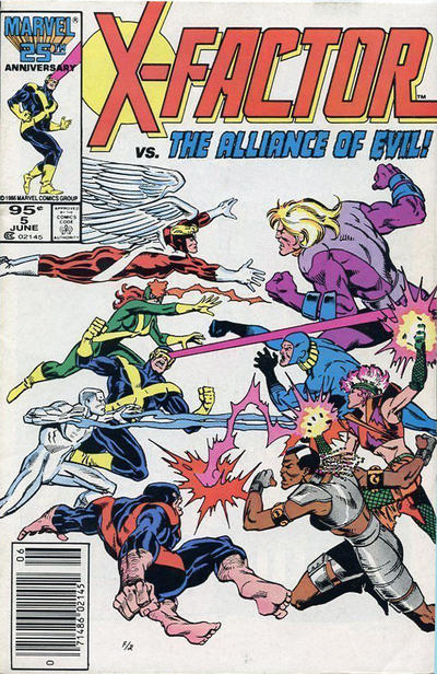 Cover for X-Factor (Marvel, 1986 series) #5 [Newsstand Edition]