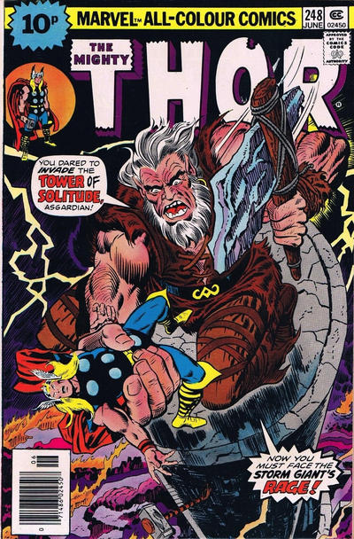 Cover for Thor (Marvel, 1966 series) #248 [British]