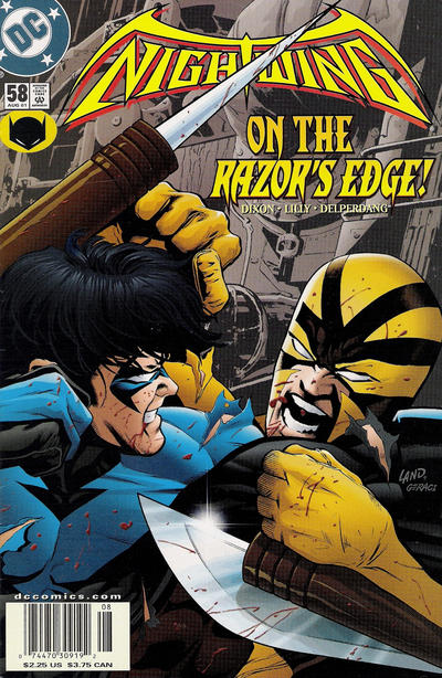 Cover for Nightwing (DC, 1996 series) #58 [Newsstand Sales]