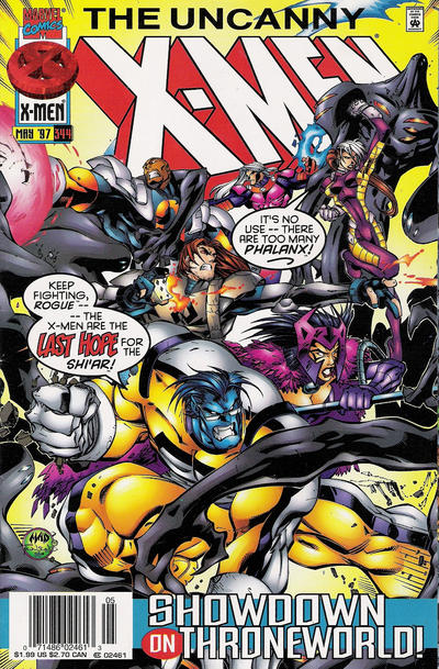 Cover for The Uncanny X-Men (Marvel, 1981 series) #344 [Direct Edition]