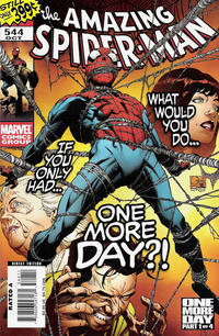 Cover Thumbnail for The Amazing Spider-Man (Marvel, 1999 series) #544 [Direct Edition - Joe Quesada Cover]