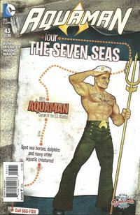 Cover Thumbnail for Aquaman (DC, 2011 series) #43 [Ant Lucia DC Bombshells Cover]
