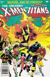 Cover Thumbnail for Marvel and DC Present Featuring The Uncanny X-Men and The New Teen Titans (Marvel, 1982 series) #1 [Newsstand]