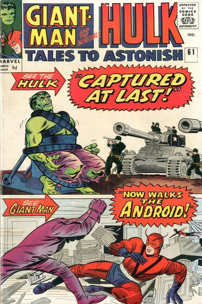 Cover for Tales to Astonish (Marvel, 1959 series) #61