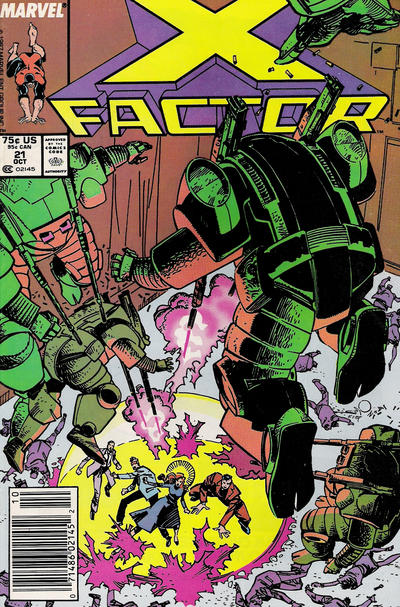 Cover for X-Factor (Marvel, 1986 series) #21 [Newsstand Edition]