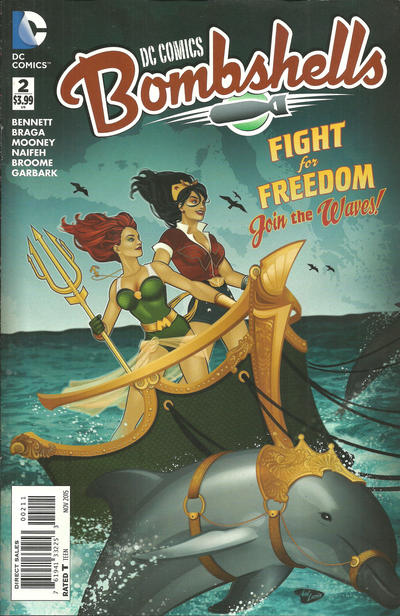 Cover for DC Comics: Bombshells (DC, 2015 series) #2 [Kevin Wada Cover]