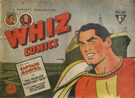 Cover for Whiz Comics (Cleland, 1946 series) #40