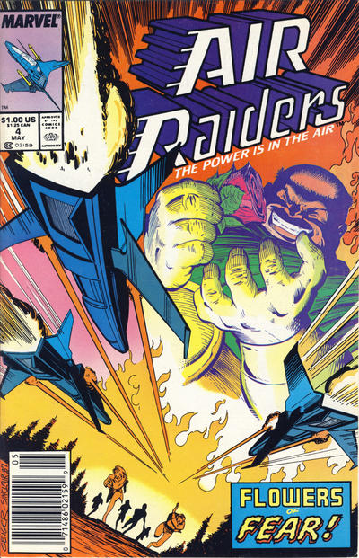 Cover for Air Raiders (Marvel, 1987 series) #4 [Direct Edition]