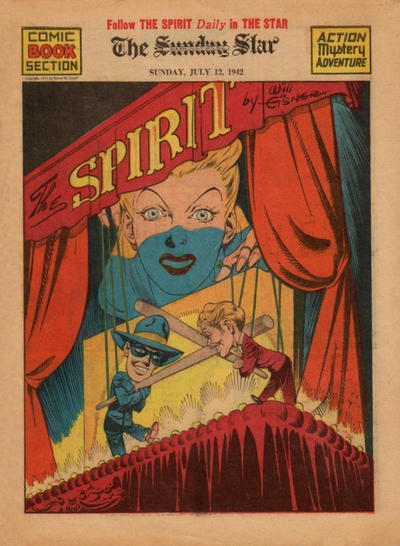 Cover for The Spirit (Register and Tribune Syndicate, 1940 series) #7/12/1942