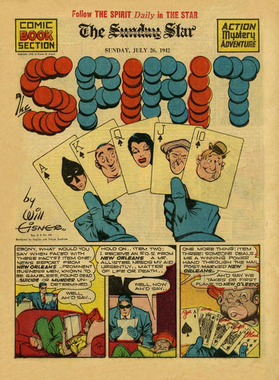 Cover for The Spirit (Register and Tribune Syndicate, 1940 series) #7/26/1942