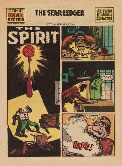 Cover for The Spirit (Register and Tribune Syndicate, 1940 series) #1/3/1943