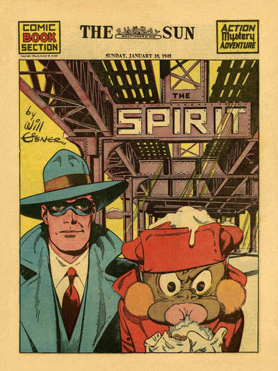 Cover for The Spirit (Register and Tribune Syndicate, 1940 series) #1/10/1943