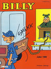 Cover for Billy julehefte (Hjemmet / Egmont, 1970 series) #1980