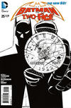 Cover for Batman and Robin (DC, 2011 series) #25 [Black & White Retailer Incentive by Patrick Gleason]