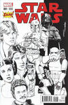 Cover for Star Wars (Marvel, 2015 series) #1 [Zapp Comics Exclusive Mike Mayhew Black and White Variant]