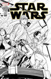 Cover for Star Wars (Marvel, 2015 series) #1 [Joe Quesada Black and White Wraparound Variant]