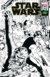 Cover for Star Wars (Marvel, 2015 series) #1 [Emerald City Comics Exclusive Alan Davis Black and White Variant]