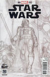 Cover for Star Wars (Marvel, 2015 series) #1 [BAM! Books A Million Exclusive Simone Bianchi Sketch Variant]