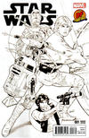 Cover Thumbnail for Star Wars (2015 series) #1 [Dynamic Forces Exclusive Greg Land Black and White Variant]