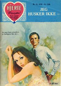 Cover Thumbnail for Hjerterevyen (Serieforlaget / Se-Bladene / Stabenfeldt, 1960 series) #15/1976