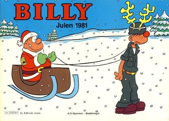 Cover for Billy julehefte (Hjemmet / Egmont, 1970 series) #1981