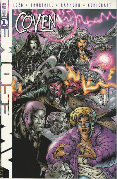 Cover for The Coven (Awesome, 1997 series) #1 [Dynamic Forces Exclusive Chrome Edition]