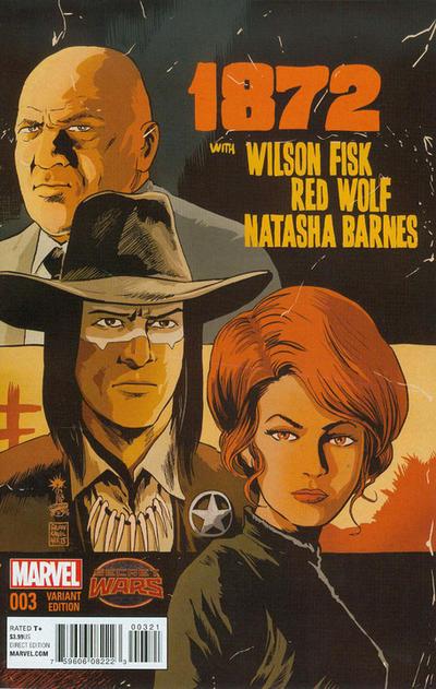 Cover for 1872 (Marvel, 2015 series) #3 [Francesco Francavilla Variant]