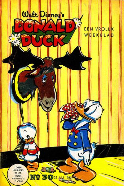 Cover for Donald Duck (Geïllustreerde Pers, 1952 series) #30/1953