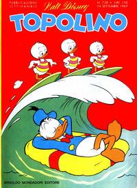 Cover Thumbnail for Topolino (Arnoldo Mondadori Editore, 1949 series) #720