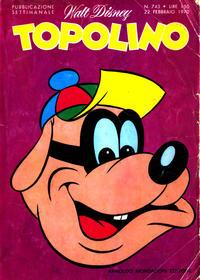 Cover Thumbnail for Topolino (Arnoldo Mondadori Editore, 1949 series) #743