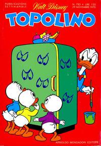 Cover Thumbnail for Topolino (Arnoldo Mondadori Editore, 1949 series) #783
