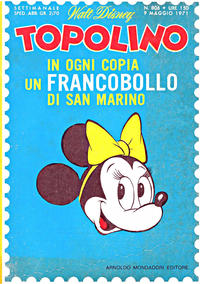Cover Thumbnail for Topolino (Arnoldo Mondadori Editore, 1949 series) #806