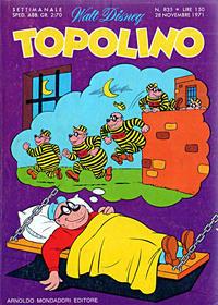 Cover Thumbnail for Topolino (Arnoldo Mondadori Editore, 1949 series) #835