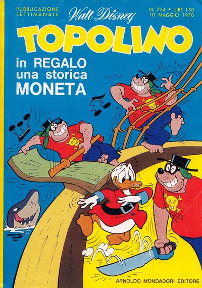 Cover for Topolino (Arnoldo Mondadori Editore, 1949 series) #754