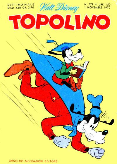 Cover for Topolino (Arnoldo Mondadori Editore, 1949 series) #779
