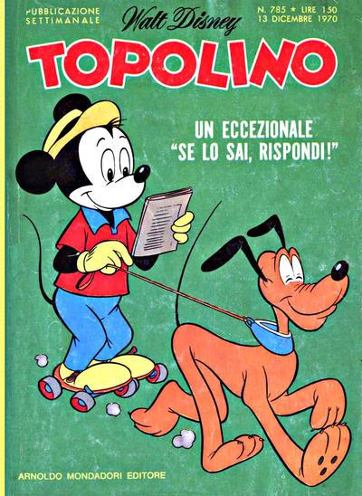 Cover for Topolino (Arnoldo Mondadori Editore, 1949 series) #785