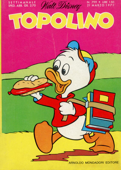 Cover for Topolino (Arnoldo Mondadori Editore, 1949 series) #799