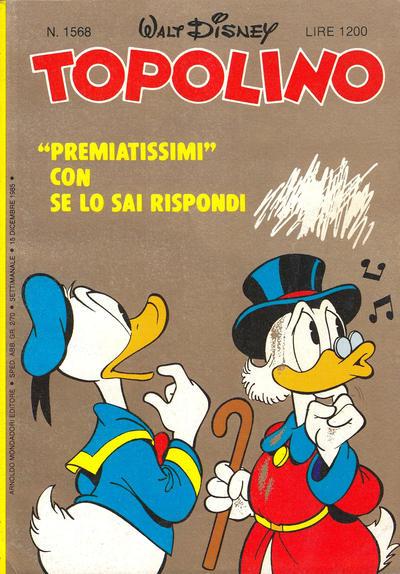 Cover for Topolino (Arnoldo Mondadori Editore, 1949 series) #1568