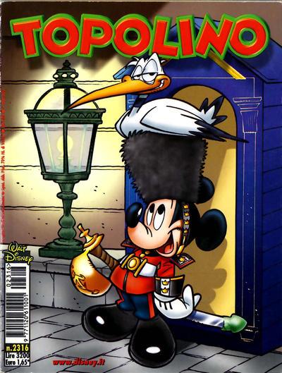 Cover for Topolino (The Walt Disney Company Italia, 1988 series) #2316