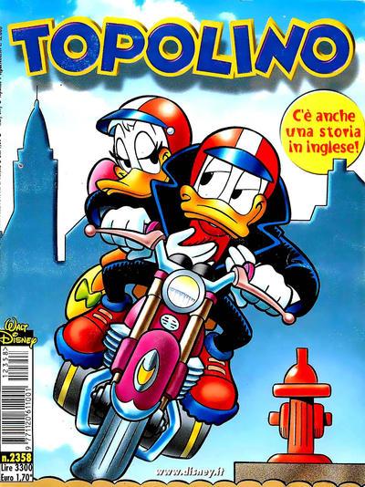 Cover for Topolino (The Walt Disney Company Italia, 1988 series) #2358