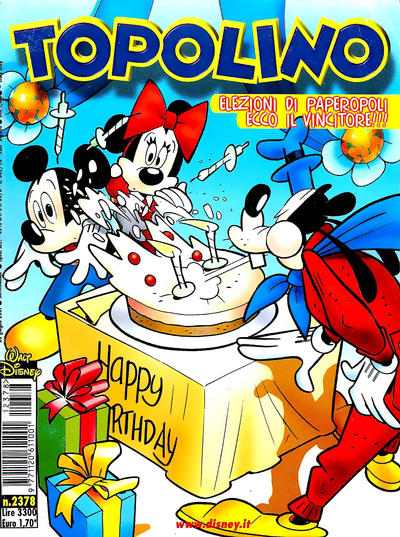 Cover for Topolino (The Walt Disney Company Italia, 1988 series) #2378