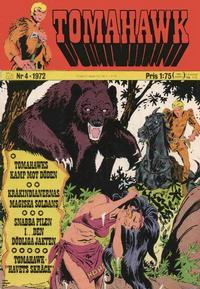 Cover Thumbnail for Tomahawk (Williams Förlags AB, 1969 series) #4/1972