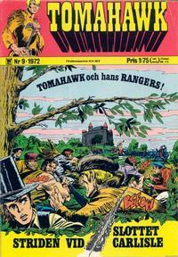 Cover Thumbnail for Tomahawk (Williams Förlags AB, 1969 series) #9/1972