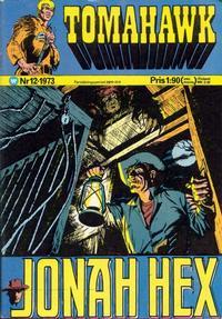 Cover Thumbnail for Tomahawk (Williams Förlags AB, 1969 series) #12/1973