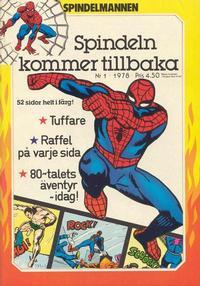 Cover Thumbnail for Spindelmannen (Atlantic Förlags AB, 1978 series) #1/1978