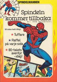 Cover Thumbnail for Spindelmannen (Atlantic Förlags AB, 1978 series) #1/1978