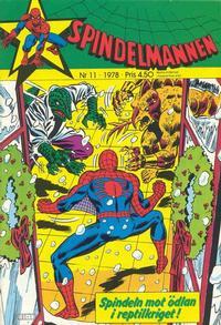 Cover Thumbnail for Spindelmannen (Atlantic Förlags AB, 1978 series) #11/1978
