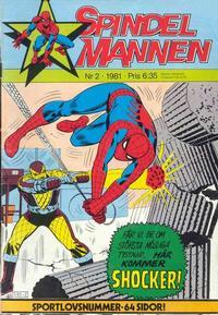 Cover Thumbnail for Spindelmannen (Atlantic Förlags AB, 1978 series) #2/1981