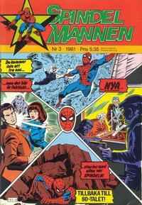 Cover Thumbnail for Spindelmannen (Atlantic Förlags AB, 1978 series) #3/1981
